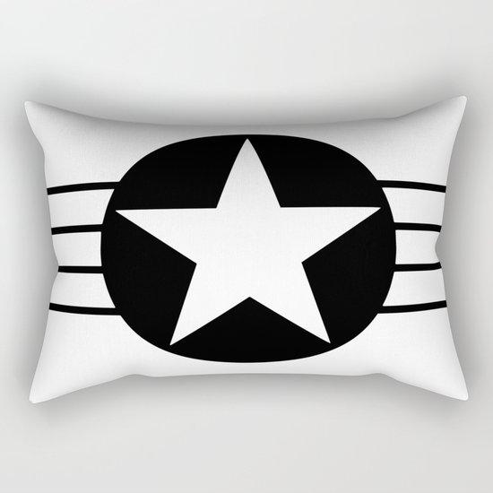 Black and white star Rectangular Pillow