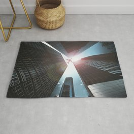 airplane in the downtown Rug