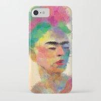 frida kahlo iPhone & iPod Cases featuring frida kahlo by vale agapi