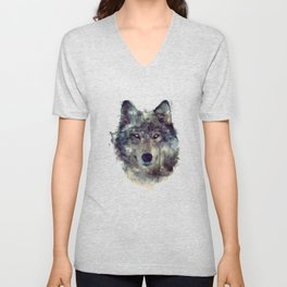 Wolf // Persevere  Unisex V-Neck