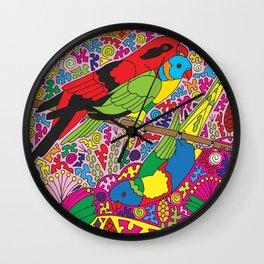 Happy Birds - Lorikeet Wall Clock