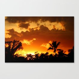 A Tropical Sunset Canvas Print
