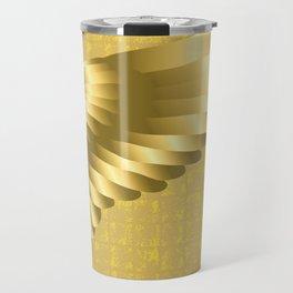 Gold Bird Wing on the Gold-leaf Screen Travel Mug