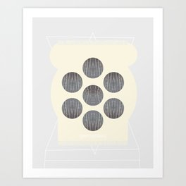 Symmetrical Sand Creature Art Print