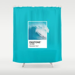 Pantone Series – Hawaiian Surf Shower Curtain