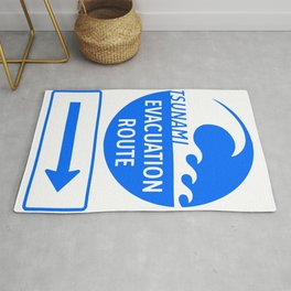 Tsunami Evacuation Route Rug