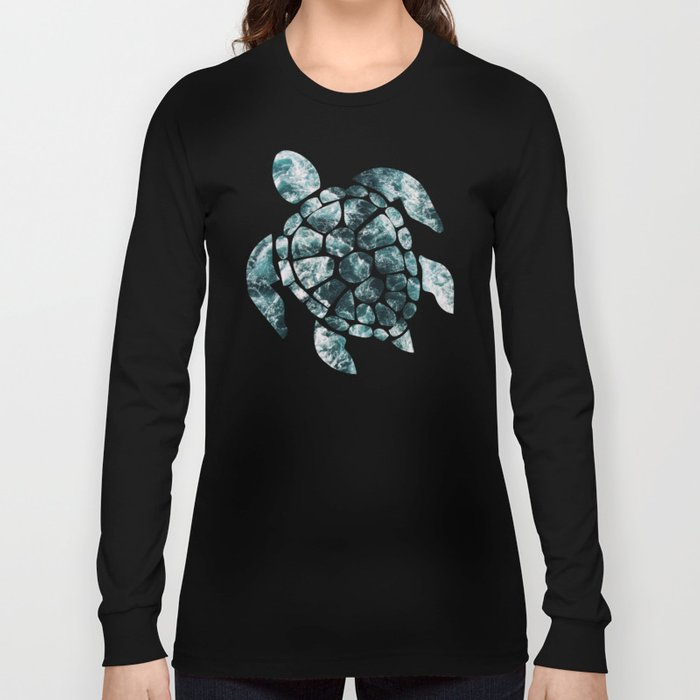 Sea Turtle - Turquoise Ocean Waves Langarmshirt