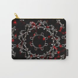 Abstract Alien Silver Mandala Pattern Carry-All Pouch