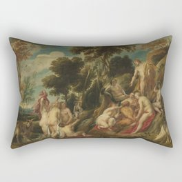 Jacob Jordaens I - Marsyas Ill-Treated by the Muses Rectangular Pillow