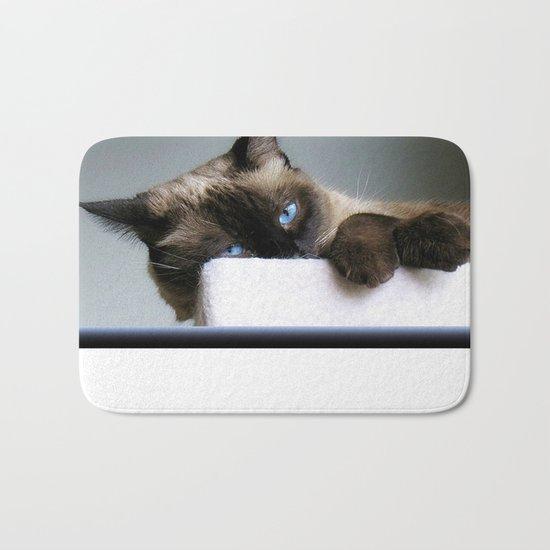 Blue Eyed Cat Bath Mat