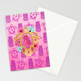 Hawaiian Pink Honu Stationery Cards