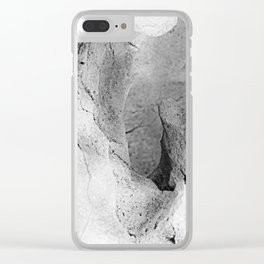 Marble Abstract 1 Clear iPhone Case