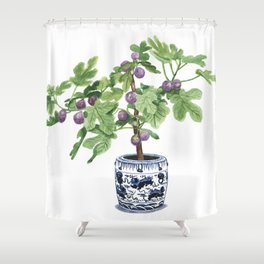 Chinoiserie chic decor, fig tree Shower Curtain