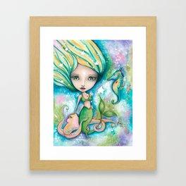 Mermaid Connection Framed Art Print
