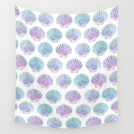 iridescent shells pattern Wall Tapestry