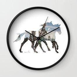 Autumn Horses Wall Clock