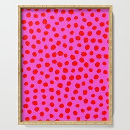Keep me Wild Animal Print - Pink with Red Spots Serving Tray