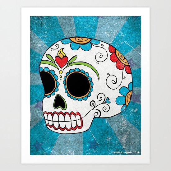 Dia De Los Muertos Calavera Art Print
