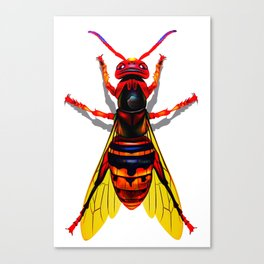 Hot Red Hornet From Hell Canvas Print