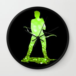 Super Heros Glitter Art - 2 Wall Clock