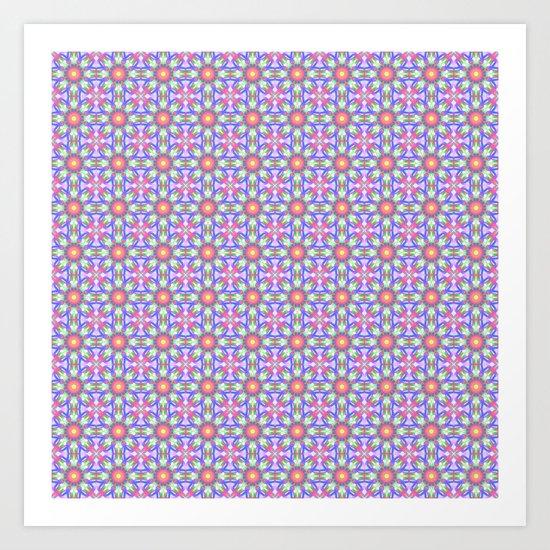 Cute floral spring patterns Art Print