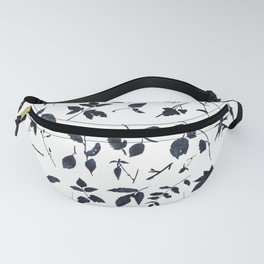 Leaves, black shapes, watercolor Fanny Pack