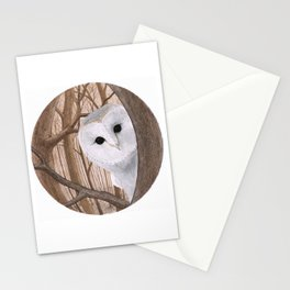 curious owl Stationery Cards