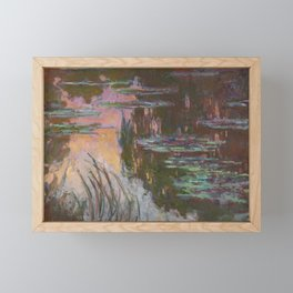 Water Lilies - Setting Sun by Claude Monet Framed Mini Art Print