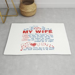 Love my wife Rug