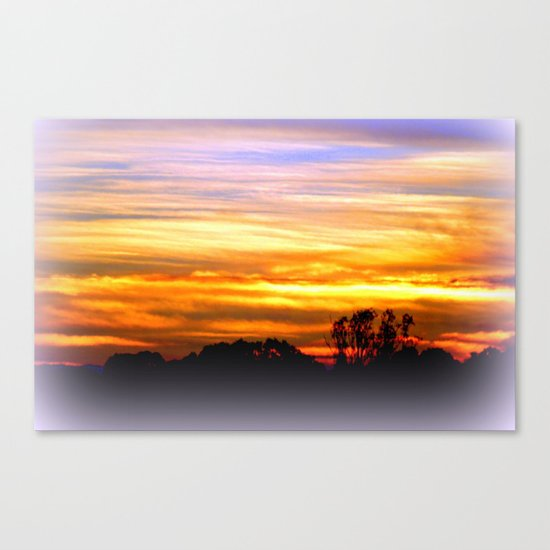 Layers of vibrant Clouds Canvas Print