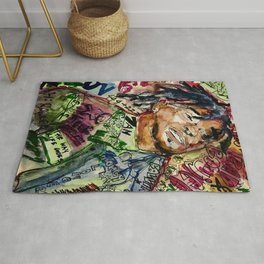 colorful hiphop,poster,lil,rap,artist,music,lyrics,colourful,poster,cool,dope,print,uzi Rug