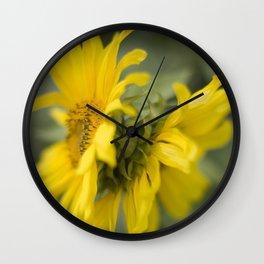 Siamese twin flowers Wall Clock