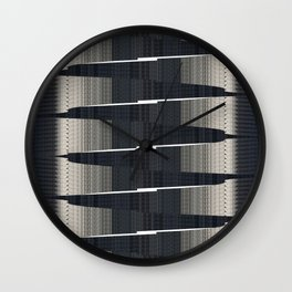Crossing point Wall Clock
