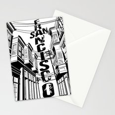 Cities in Black - San Francisco Stationery Cards