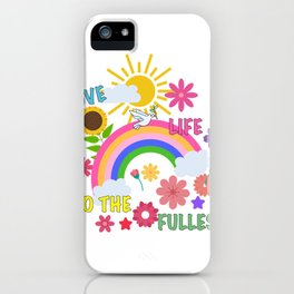 Live Life to the fullest Deadfamous  iPhone Case