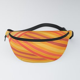 Orange - yellow stripes Fanny Pack