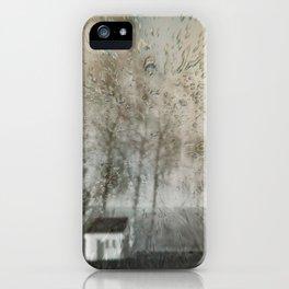 Concept landscape : Chapel in the rain iPhone Case