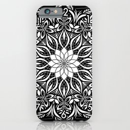 Psychedelic Mandala Geometric Line Art Illustration iPhone Case