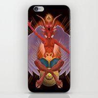 baphomet iPhone & iPod Skins featuring The Baphomet by 5th Aeon