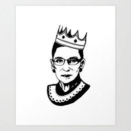 RBG Associate Justice Ruth Bader Ginsburg Art Print