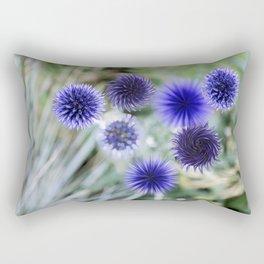 Globe Thistle Pinwheels  Rectangular Pillow