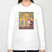 golden girls Long Sleeve T-shirts featuring Golden Temple of the Good Girls by Susan Carlson