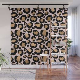 Animal print - pink copper Wall Mural