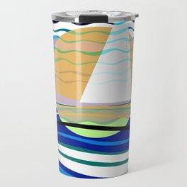 Sailors Geometry of Sailing Abstract Travel Mug