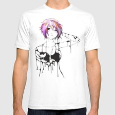 Nuvoil Girl MEDIUM White Mens Fitted Tee