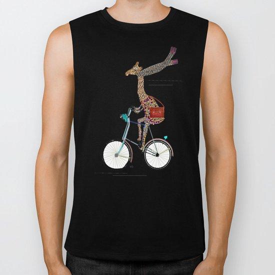 Giraffes School Days  Biker Tank