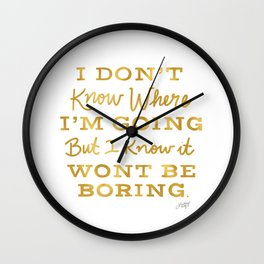Bowie Quote - Gold Palette Wall Clock