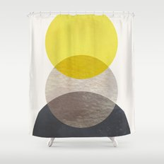 SUN MOON EARTH Shower Curtain