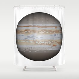 Planet Jupiter Shower Curtain