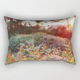 Evening glow in the forest Rectangular Pillow